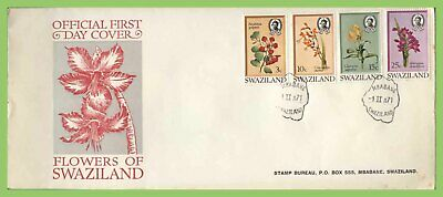 Swaziland 1971 Flowers set on First Day Cover