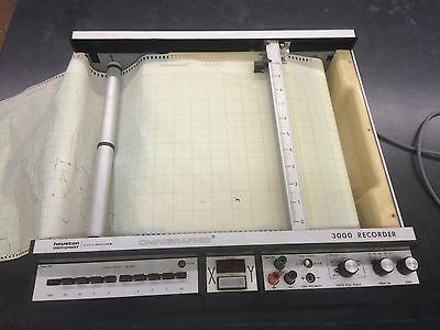 Houston Instrument Omnigraphic 3000 XY chart recorder with extra paper