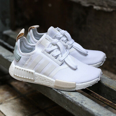 867444364 AUTHENTIC ADIDAS NMD  R1 W Runner White Tactile Green BY3033 Shoes ...