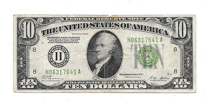 1928-B $10 Redeemable In Gold Federal Reserve Bank Of St Paul Minnesota National