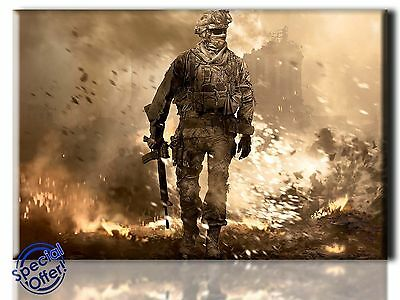 Large Wall Art Canvas Picture Print of Call of Duty Framed