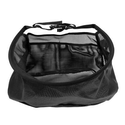 Nylon Stripping Basket Fly Fishing Line Orgnizer Net Case Waist Bag Black
