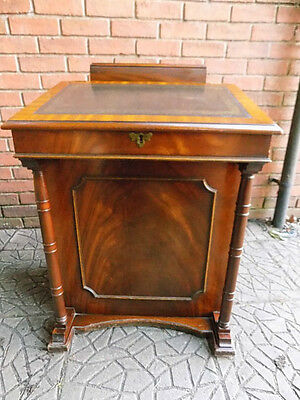 Antique Fine Quality Regency Style Mahogany Sliding Top Davenport Desk