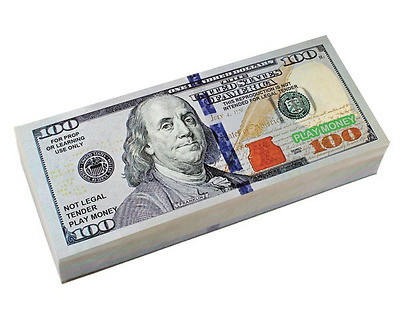 Six Packs of Best Real looking Play Prop Money Smaller Size