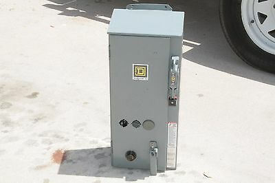 New Combination Motor Starter Square D 8538Sca24V02S 30 Amp Disconnect Size 1