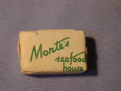 Vintage Monte's Sea Food House Restaurant New York City Sugar Cube