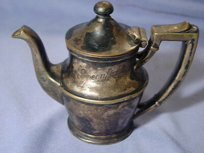 Rare Vintage Greenfield's Restaurant Michigan Chain 8oz IS Silver Plate Tea Pot