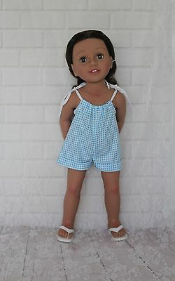 "Blue & White Doll Clothes for 20"" Australian Girl & 18"" American Girl dolls"