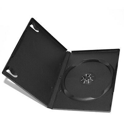 Black 14mm Quality CD DVD Cover Cases - Standard Size DVD case x 2