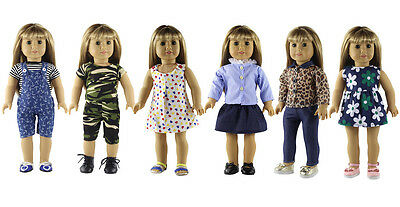 6* New Style Doll Clothes FOR 18'' American Girl Handmade Princess Dress Outfit