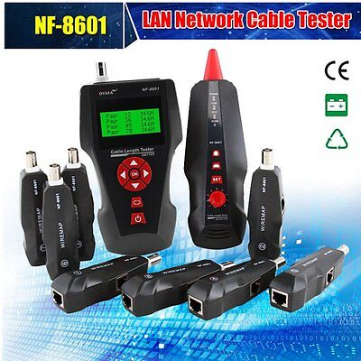 NF-8601W Multifunctional Network Cable Tester LCD Cable Wire Length Tester WU