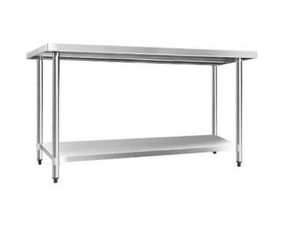New 304 Stainless Steel Kitchen Work Bench Table 1524Mm Storage Portable Shelf