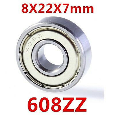 PREMIUM 608ZZ Ball Bearing ABEC-5 For Skateboard 3D Printer RepRap 8mm*22mm*7mm