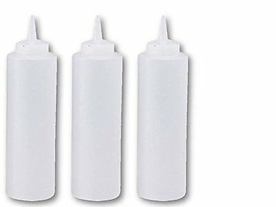Great Credentials­­ Squeeze Bottles Clear Set of 3, 8-oz 8 OZ.