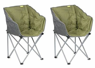 2 x Kampa Tub Folding Camping Chair Green