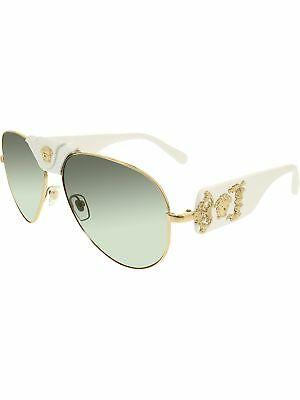Versace Men's VE2150Q-134187-62 Gold Aviator Sunglasses