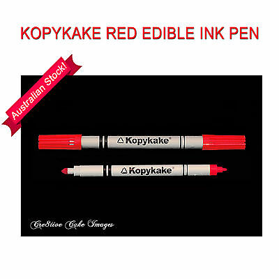 KopyKake Double End Red Edible Ink Pen Food Colour Cake Decorating Stenciling