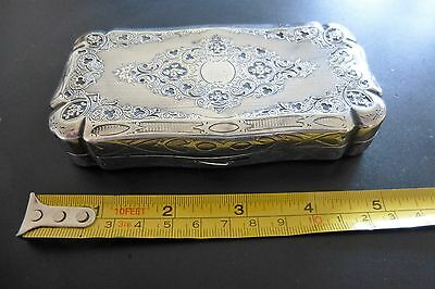 French Mid19th Century 950 Solid Silver Cigar Case - 118 gram
