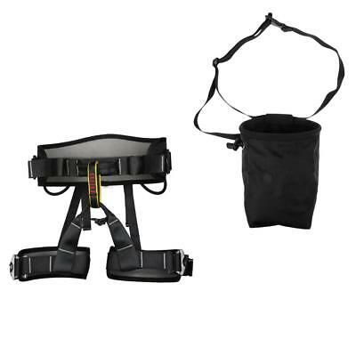 Safety Fall Protection Rock Climbing Harness with Magnesium Powder Chalk Bag
