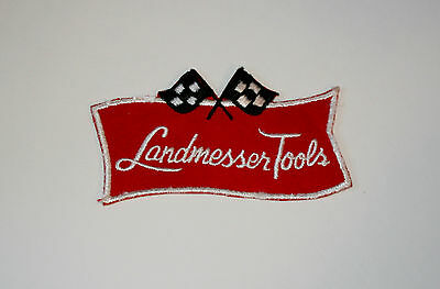 Vintage Landmesser Tools Employee Racing Patch New NOS 1970s Michigan