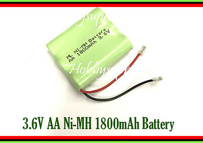 3.6V AA Ni-MH 1800mAh Rechargeable Battery w/. Universal Plug for Cordless Phone