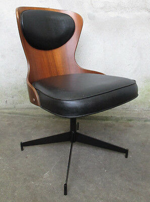 PLYCRAFT MID CENTURY SWIVEL DESK CHAIR office modern