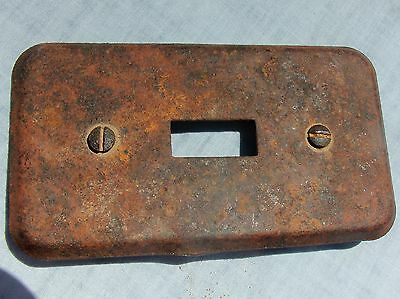 Vintage Light Switch Plate Cover from abandoned WWII Army Air Corps airfield