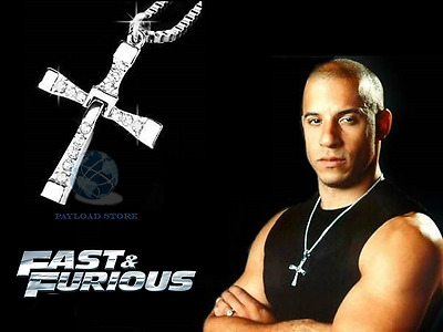 Collana Croce Dominic Toretto Vin Diesel Ciondolo Pendente Fast And Furious
