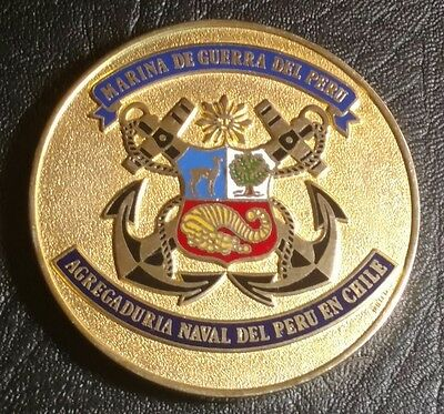 1986 Peru Navy in Chile Medal - Big and Heavy