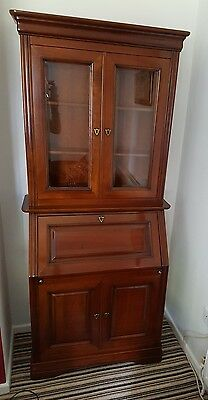 Antique Style Bureau Book Case Display Cabinet / Writing Desk Collection Only
