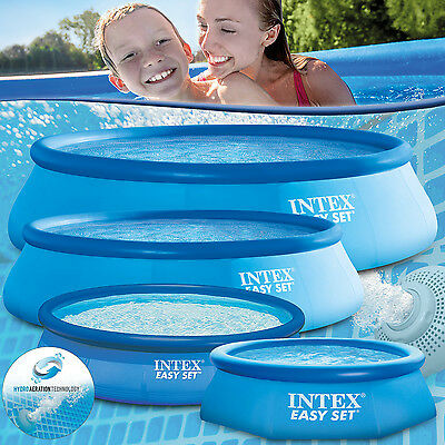INTEX PISCINA FUORITERRA SWIMMING POOL EASY 244 305 366 457 488 549 cm