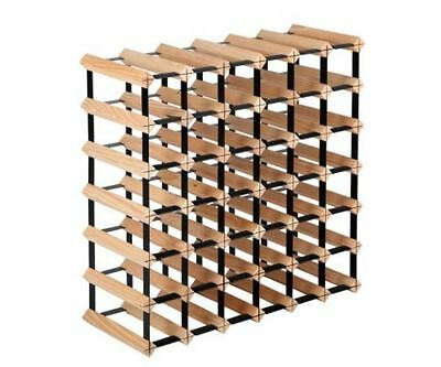 New Timber Wine Rack 42 Bottles Home Storage Organizers Bar Solutions Barware
