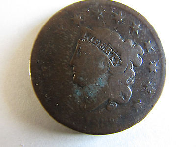 1832 Coronet Head Large Cent - Circulated