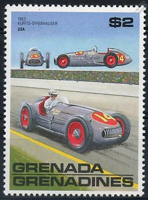 1953 KURTIS KRAFT OFFENHAUSER Race / Racing Car Stamp (Grenada)