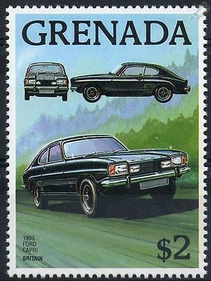 1969 FORD CAPRI Coupe Car Stamp (Grenada)