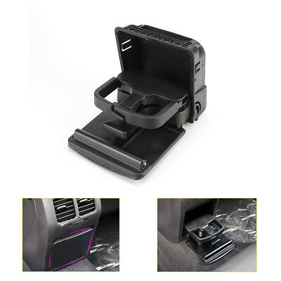 Black Rear Armrest Central Console Cup Holder for Jetta MK5 Golf MK6 GTI EOS VW