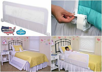 Swing Down Bedrail Bed Rail Crib Regalo Toddler Elderly Child Safety Net Guard