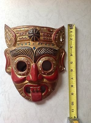 vintage Wooden Thai Mask.