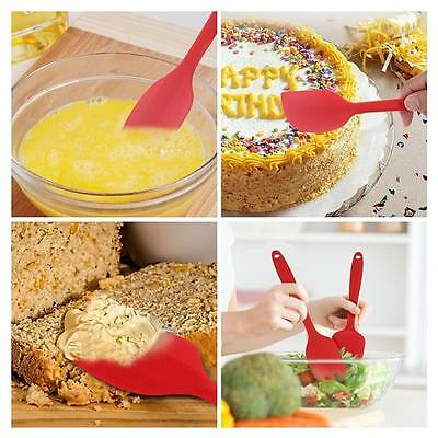 Kitchen Heat Resistant Nonstick Red Silicone Spatula Set-Silicone Head 3Pcs/Set