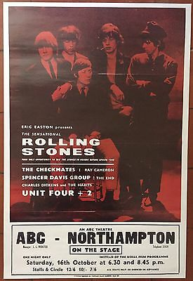 The Rolling Stones Live At ABC Northampton Reproduction Concert Poster 69 x 47cm