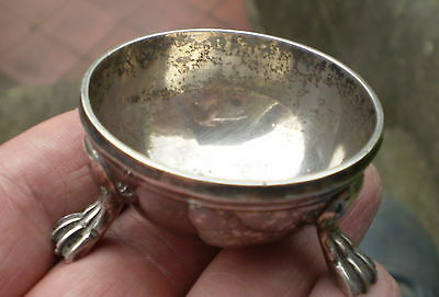Early 1900s SIlver Plated Mustard Pot / Salt Bowl On Feet