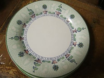 Staffordshire Tableware Topiary 5 x 26 Cm Dinner Plates Mint Condition