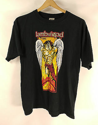 RAREWomens Lamb Of God As The Palaces Burn Metal Band T Shirt Sz M