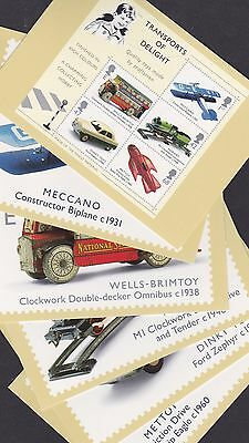 Great Britain GB 2003 Unused Full Set PHQ Stamp Cards No 257 Vintage Toys Hornby
