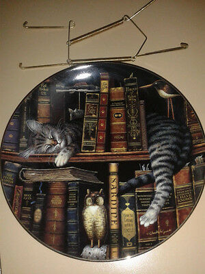 Frederick the Literate CAT Plate Bradford Exchange Limited Edition #19899A