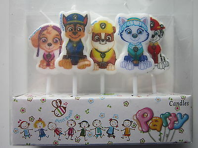 5 x Dog Theme Baby Shower Cartoon Candles Happy Birthday Party Cake Decorations