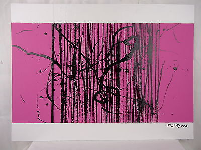Phil Pierre - STRING 058 - New original abstract art acrylic painting on board