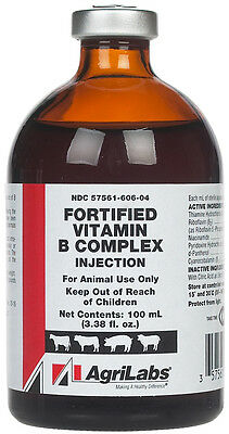 Generic (brand may vary) Vitamin B Complex for Animal Use 100 ml