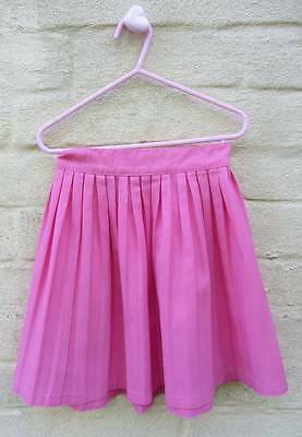 Childrens vintage hot pink skirt pleated 1950's 60's age 5-6 rockabilly lindy ho
