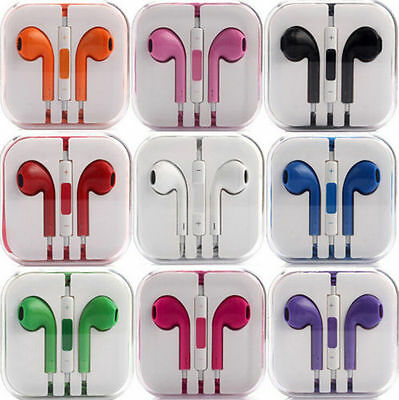 New Colour Headphones Earphone Handsfree With Mic iPhone 6S 6+ 5S 4 iPad iPod